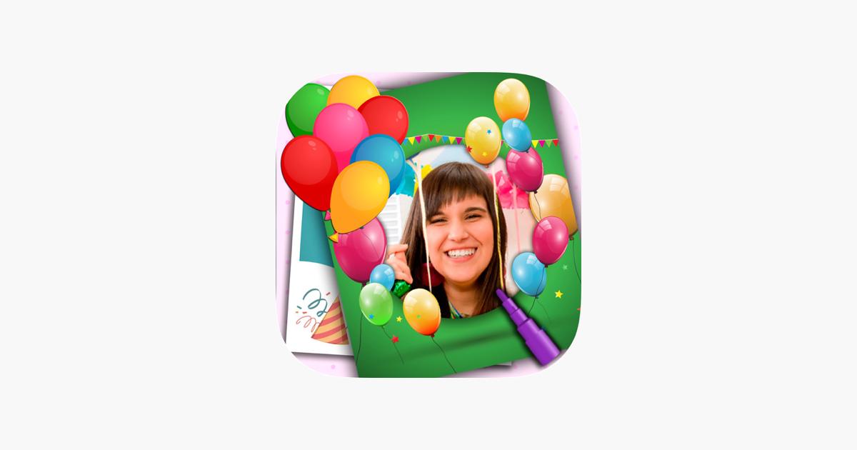 Bilderrahmen und Geburtstagskarten mit Aufkleber im App Store