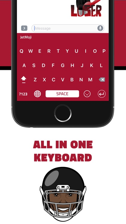 JetMoji - Official Julio Jones Emoji Keyboard screenshot-3