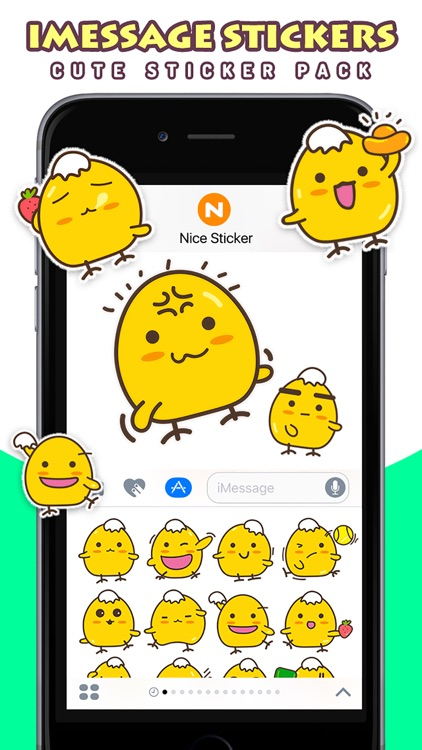 Kara Chicken - Cute Stickers by NICE Sticker screenshot-3