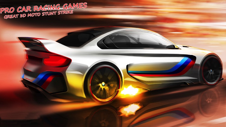 Free Car Racing Games - Great 3D Moto Stunt Strike