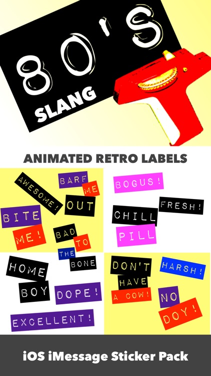 80's Slang: Retro Labeler