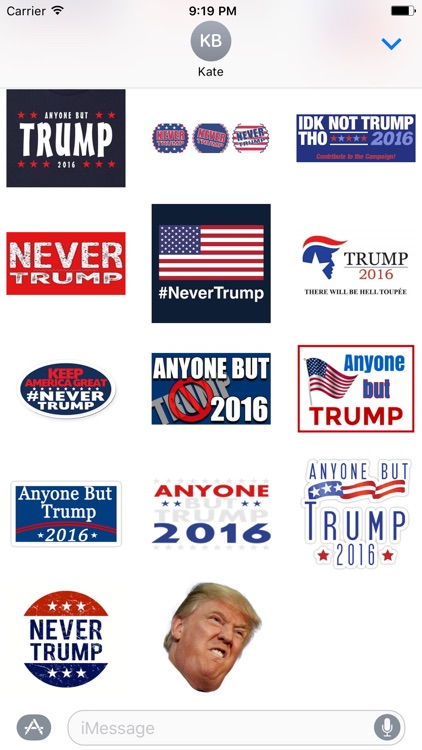 Never Donald Trump for President 2016 Stickers screenshot-3