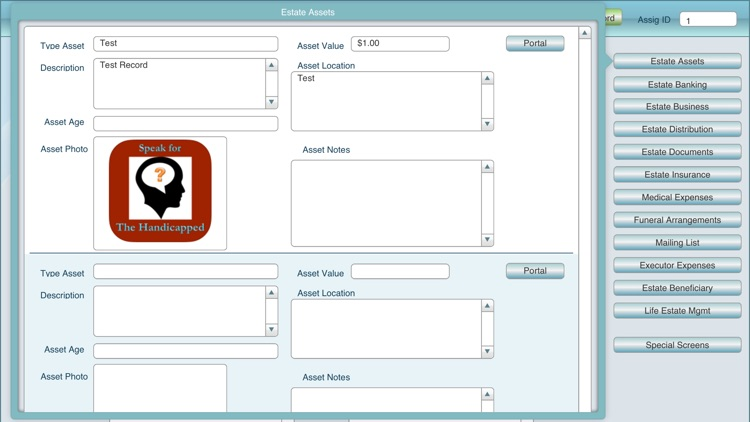 Estate Executor Mgmt DB screenshot-3