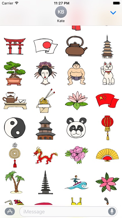 Asia Stickers screenshot-3