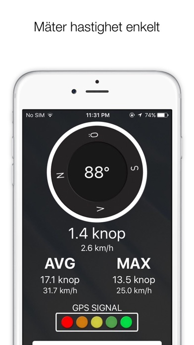 Screenshot for Knopmätare+ - Speedometer Speed Limit GPS Tracker+ in Sweden App Store