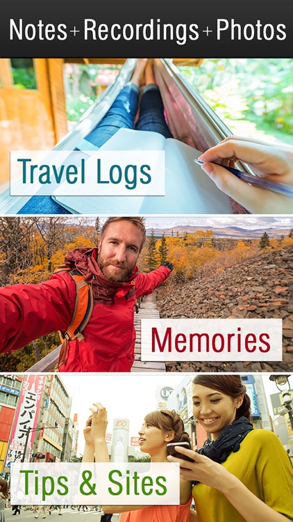 Travel Journal & Travel Log with photos
