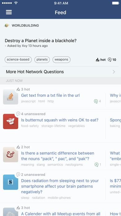 Screenshot 0 for Stack Exchange's iPhone app'