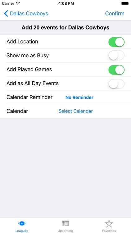 Sports Calendar App screenshot-4