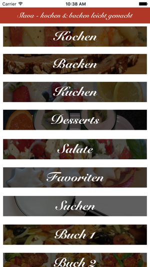 Kochen Und Backen App slava kochen und backen on the app store