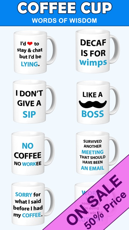 Coffee Cup Words of Wisdom Stickers