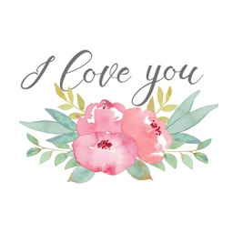 Love Messages Flowers Stickers by Maraquela