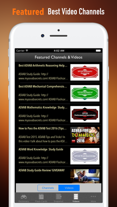 ASVAB Vocabulary-Courses and Flashcard on PC: Download free