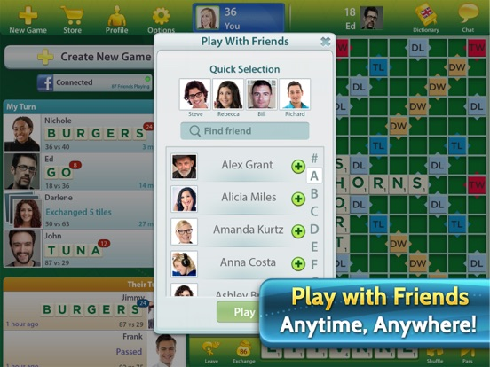 how to play scrabble on ipad with iphones