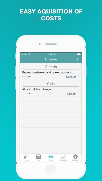 Fuel - Fuel Cost Calculator & MPG, Mileage Tracker screenshot-4