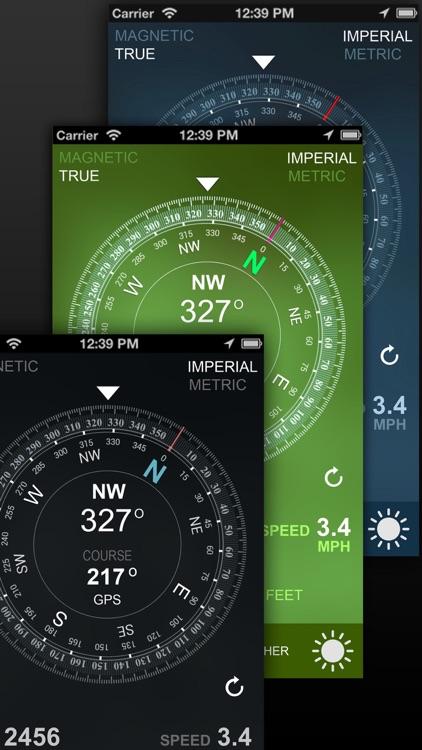 Compass GPS/A.T(Weather,Map,Speedometer,Altimeter) screenshot-3
