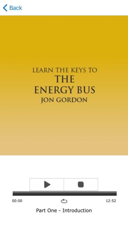 The Energy Bus by Jon Gordon Meditations Audiobook screenshot-3