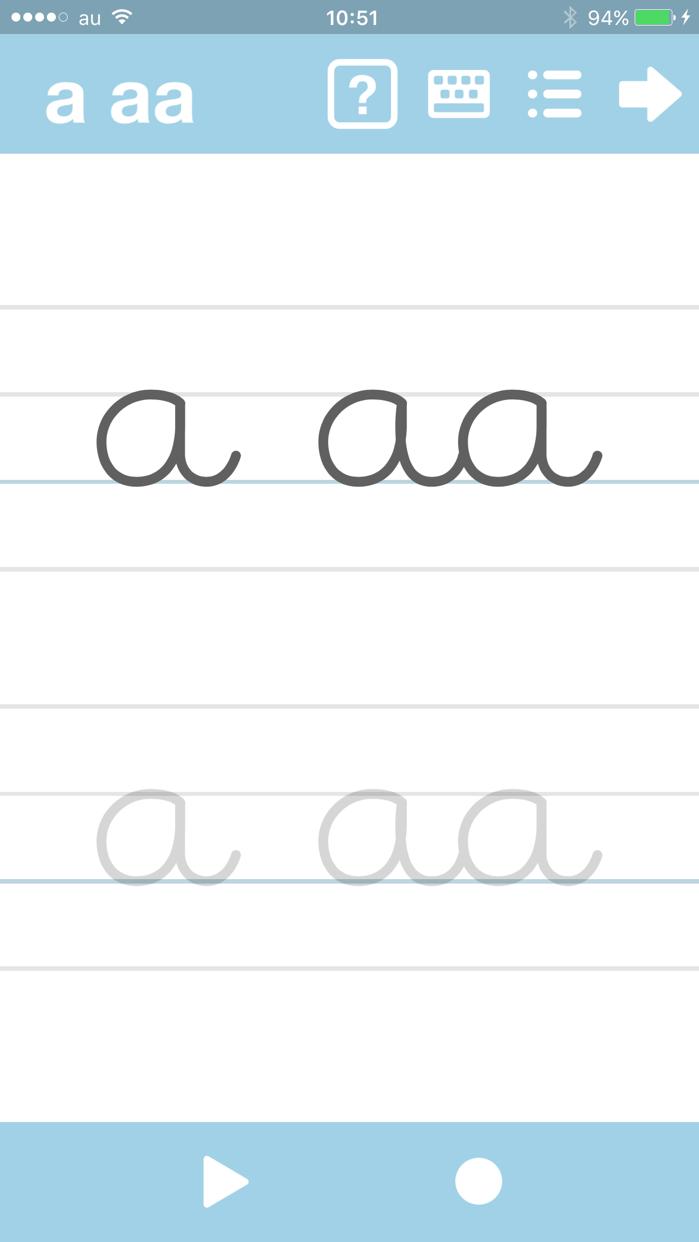 Cursive Writing App@ abCursive Screenshot
