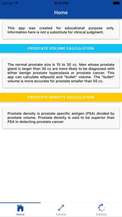 Urology PSA Calculator