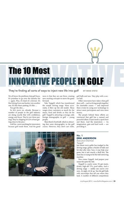Golf Inc. Magazine