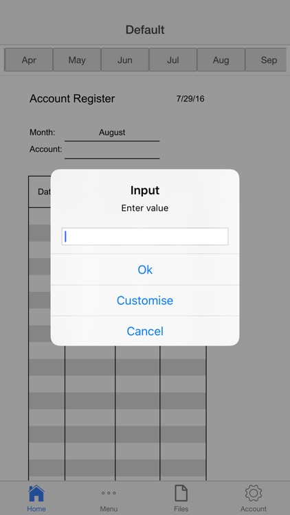 Account Register screenshot-3