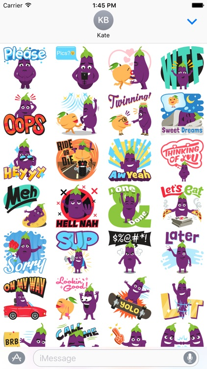 Eggplant Life: Emoji inspired stickers by EmojiOne