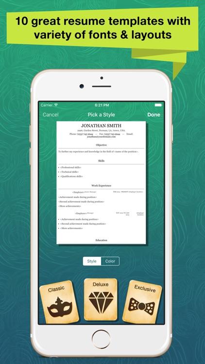 Resume Apex Pro – Professional CV Maker & Builder screenshot-4