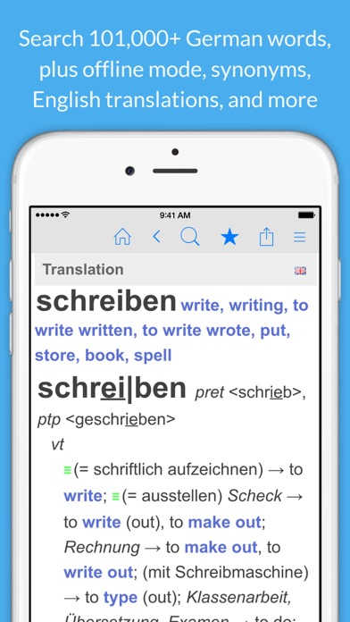 German Dictionary & Thesaurus +English Translation for Windows
