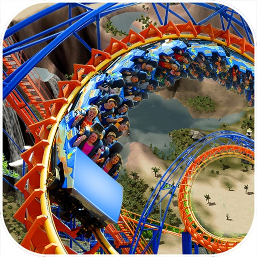 Desert Tycoon Roller Coaster : 3D Lake simulation icon