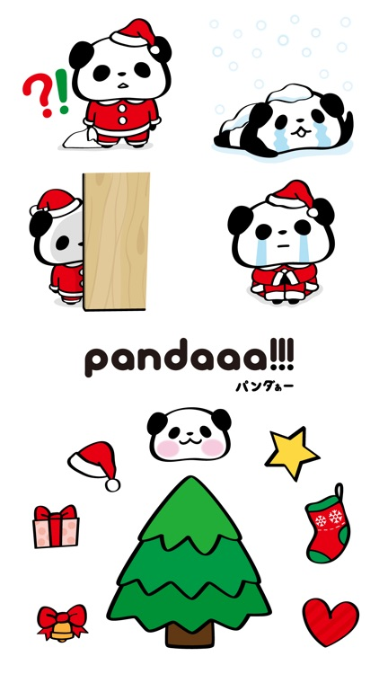 Pandaaa!!! Xmas Stickers for iMessage screenshot-3