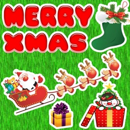 Merry Christmas Stickers and Text for iMessage