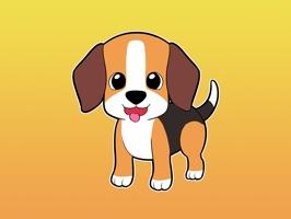 Mario the Beagle - Stickers