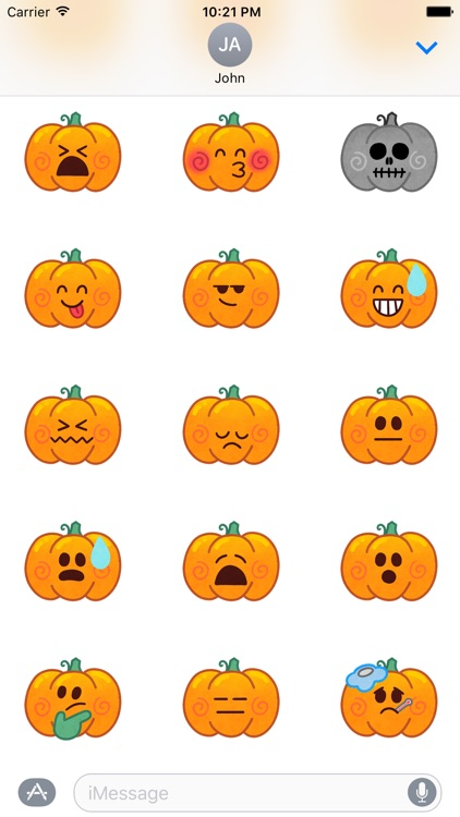 Jack-o-Moji Stickers by Mojimade screenshot-3