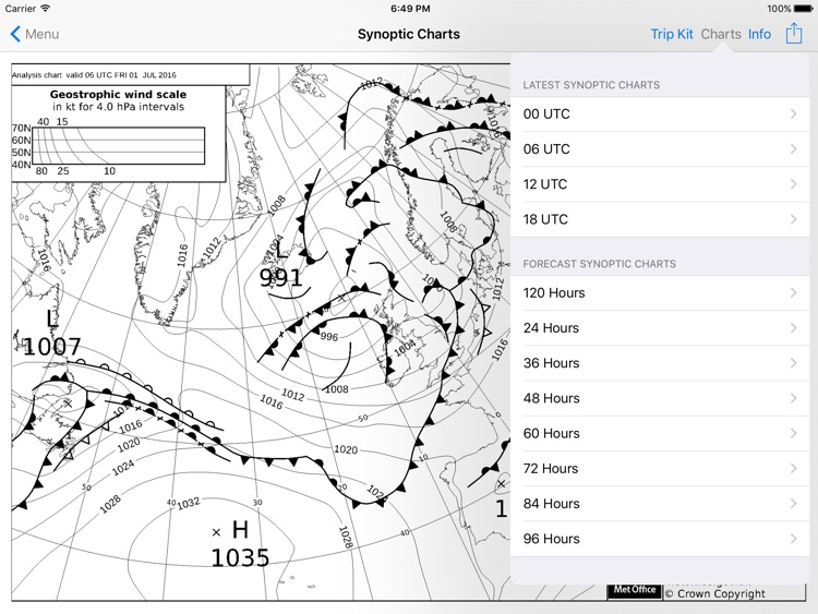 WX Charts Europe for iPad