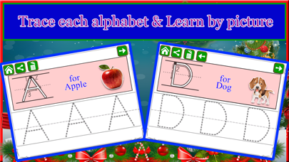 Screenshot #3 pour Alphabet Tracing Cursive & Numbers Christmas Game