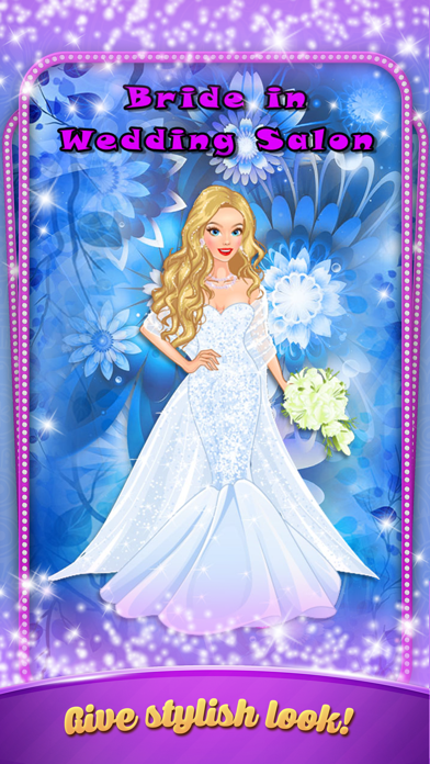 Blonde Bride in Wedding Salon - Dress up game