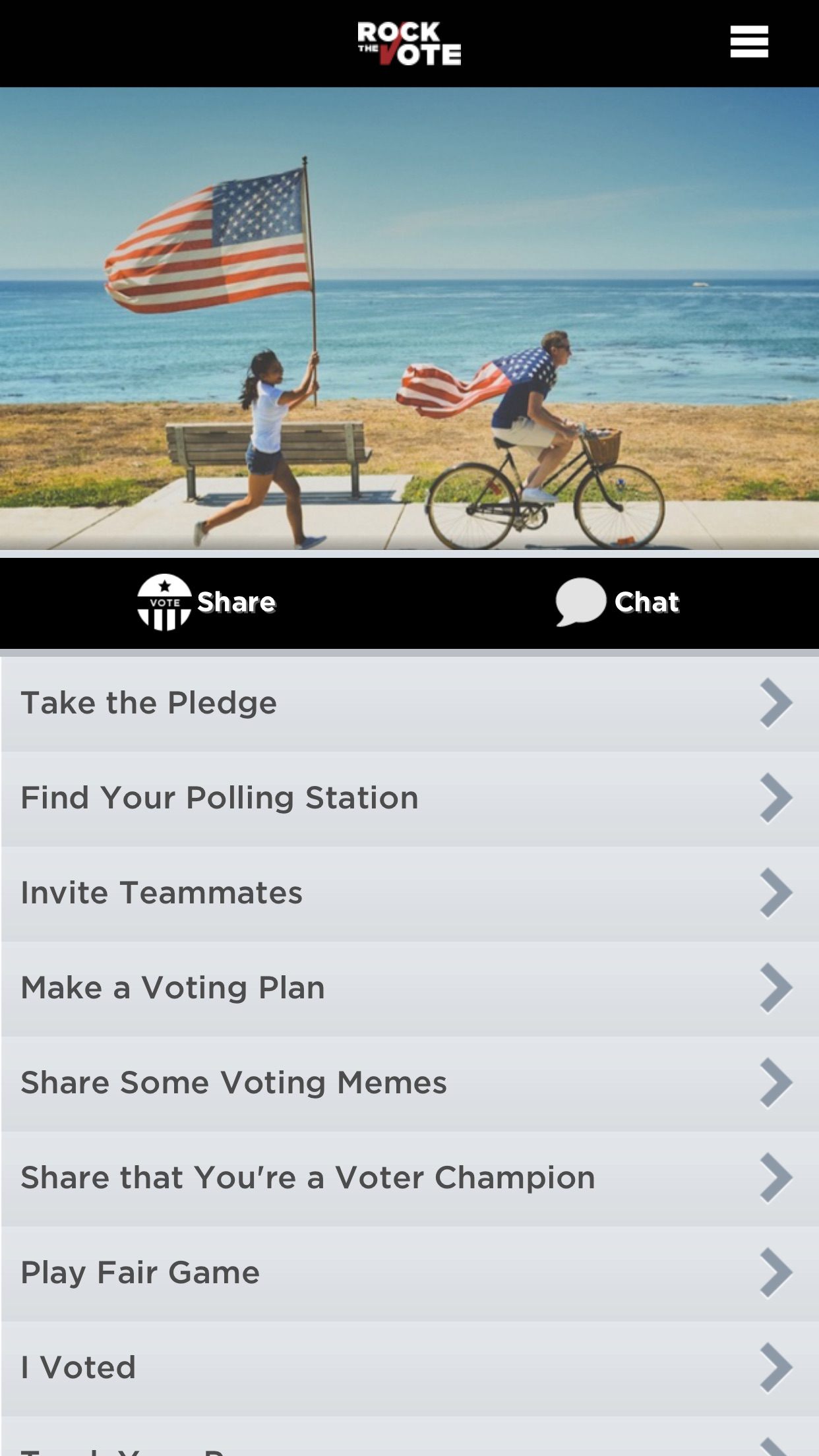 """rock the vote dating app """"talk bernie to me,"""" shouted no one ever on a dating app, and yet that is happening: a very small army of self-motivated young women are using tinder, bumble, and all the other hellish, spiritually depleting find-love-quick programs on your telephone to campaign for bernie sanders."""