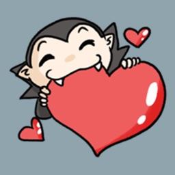 Chibi Vampire Halloween Sticker
