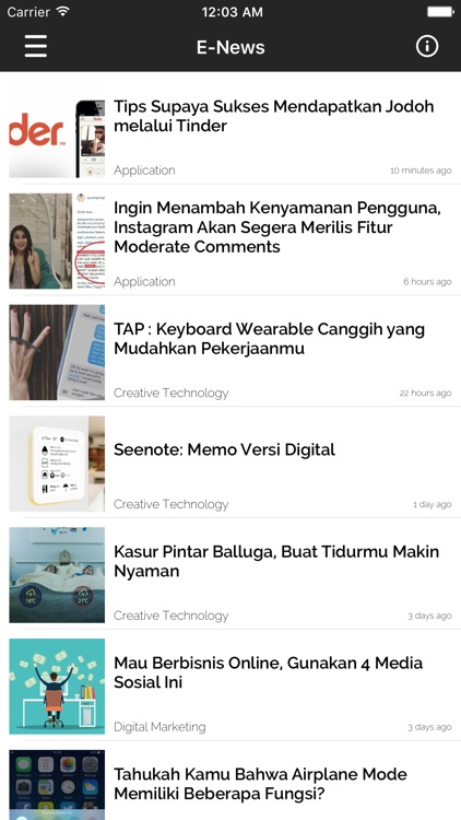E-News | Creative Tech News