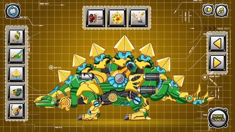 Steel Dino Toy: Mechanic Stegosaurus-2 player game screenshot-4