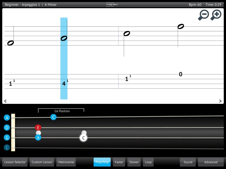 Learn & Practice Cello Music Lessons Exercises screenshot-3