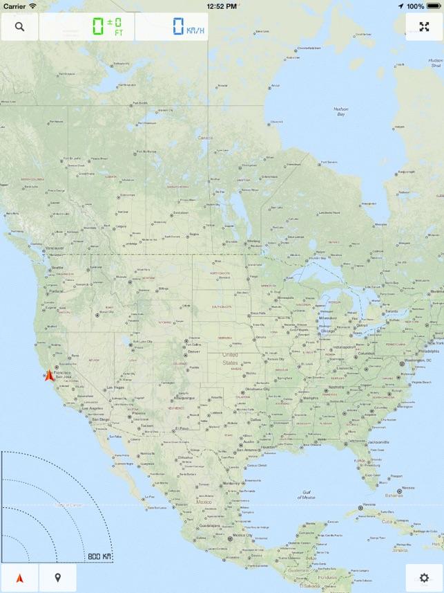 America United States US Offline Map