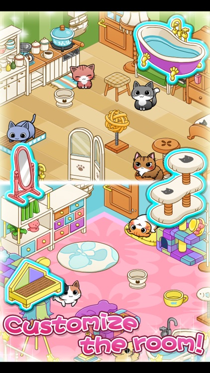 Cat Room - Cute Cat Games screenshot-3