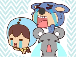 Burst into tears animated - Fx Sticker
