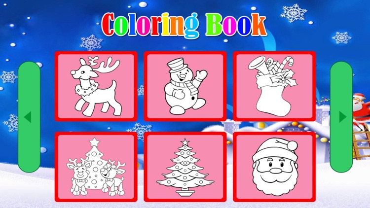 Santa Claus Christmas coloring book! For kids