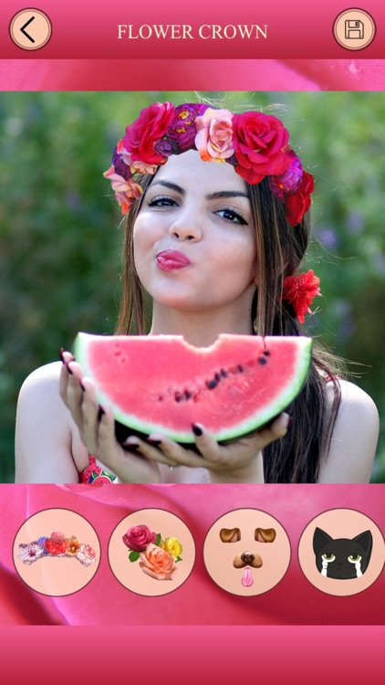 Flower Crown for Snapchat - Photo Editor, FaceSwap screenshot-3