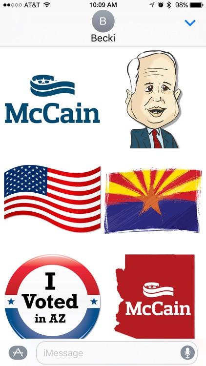 John McCain for Senate Stickers!