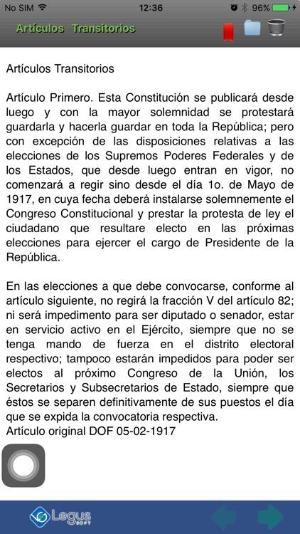 Constitución Política México screenshot-4