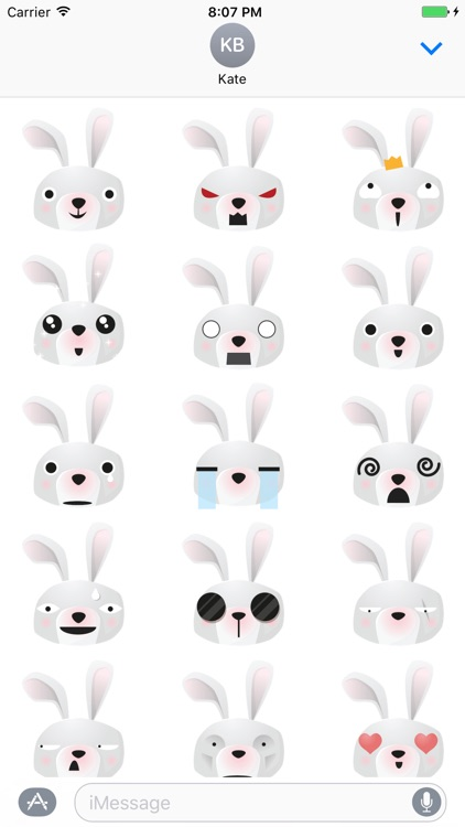 Sticker Me: Bunny Faces
