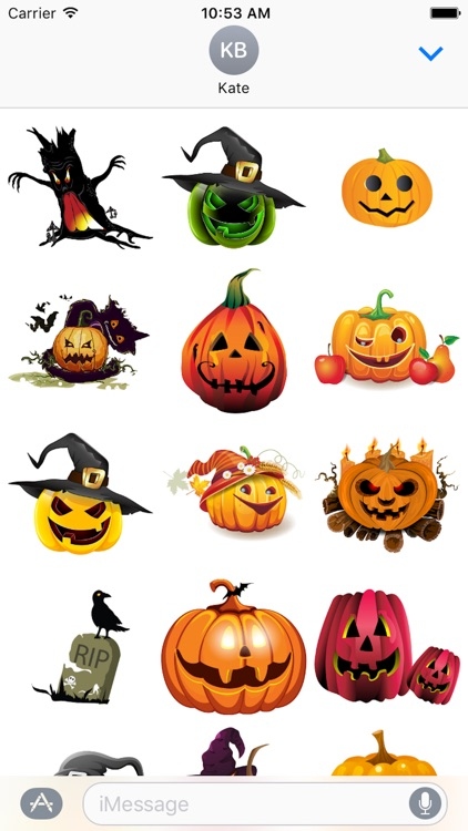 Halloween Sticker, Emoji - Fv Pack 04 screenshot-1