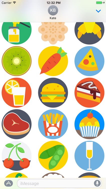 Food Stickers and Emojis for iMessage screenshot-3